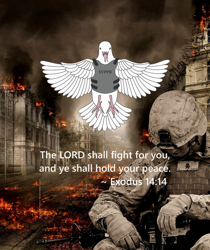 Reckless Saints War Dove with    Exodus 14:14
