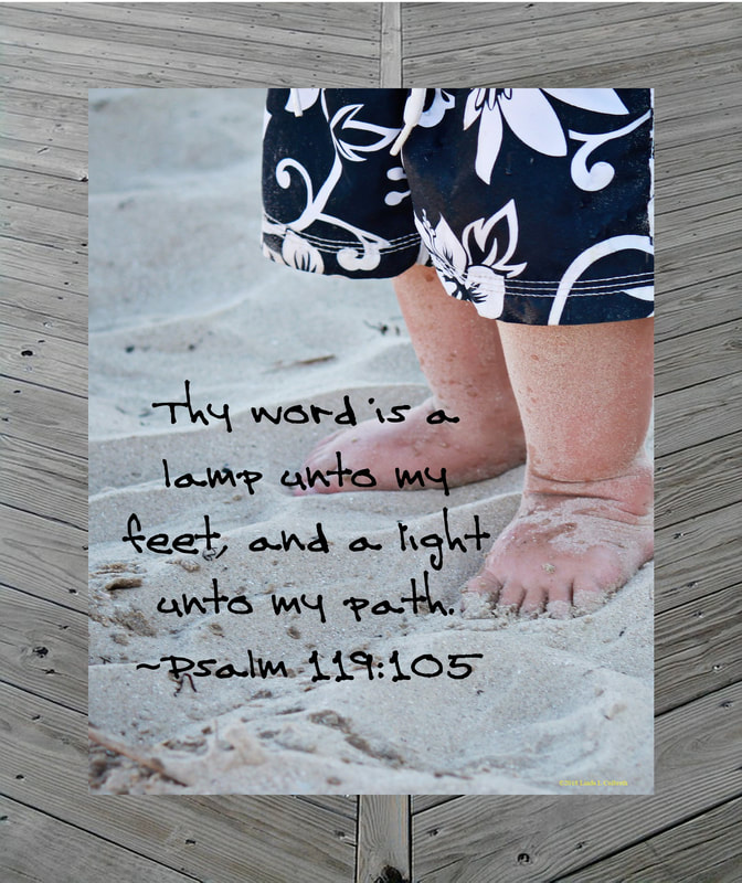 Beautiful Baby Feet with Psalms 119:105
