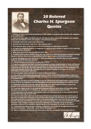 20 Beloved  Charles H. Spurgeon Quotes